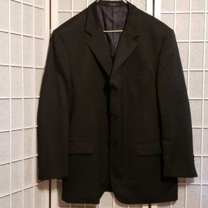 MEN'S JONES NEW YORK WOOL BLK SUIT JKT NO SZ